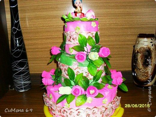 Тортик из памперсов в подарок. фото 1