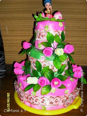 Тортик из памперсов в подарок. фото 2