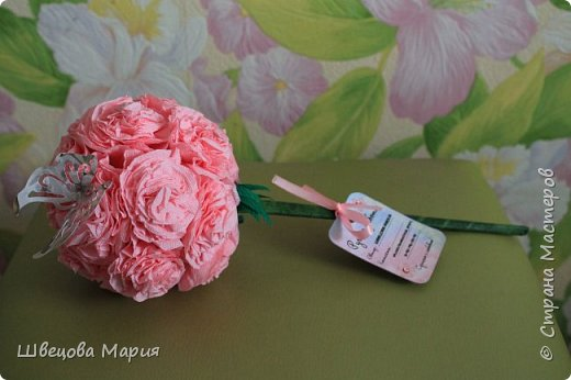 Розовая композиция с бабочкой фото 1