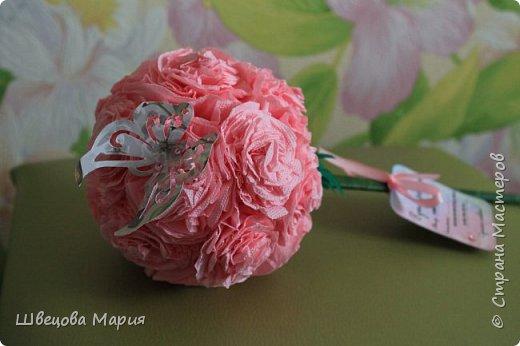 Розовая композиция с бабочкой фото 2