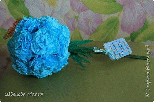Розовая композиция с бабочкой фото 3