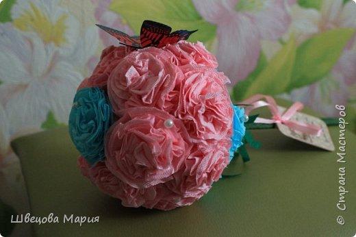 Розовая композиция с бабочкой фото 6