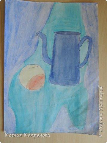 У каждого есть хобби,у меня рисование и шитьё. Какое хобби у вас? Этот  рисунок я рисовала в художественной школе! Груша и апельсин. фото 2