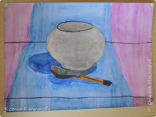 У каждого есть хобби,у меня рисование и шитьё. Какое хобби у вас? Этот  рисунок я рисовала в художественной школе! Груша и апельсин. фото 3