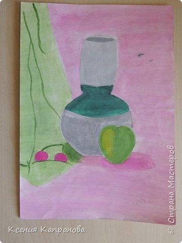 У каждого есть хобби,у меня рисование и шитьё. Какое хобби у вас? Этот  рисунок я рисовала в художественной школе! Груша и апельсин. фото 10