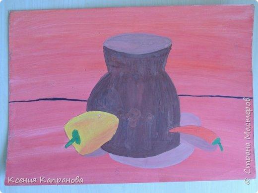 У каждого есть хобби,у меня рисование и шитьё. Какое хобби у вас? Этот  рисунок я рисовала в художественной школе! Груша и апельсин. фото 13