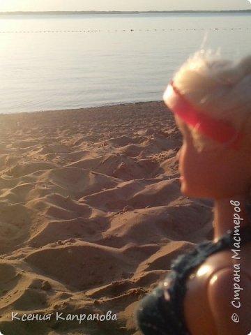 Привет!!! Наконец я создаю первую запись в блоге! Это моя кукла Элизабет. Она захотела вместе со мной на пляж и прихватила свои вещички. фото 4