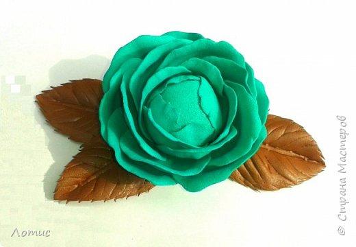 Ободочек с оранжевой розой. фото 6