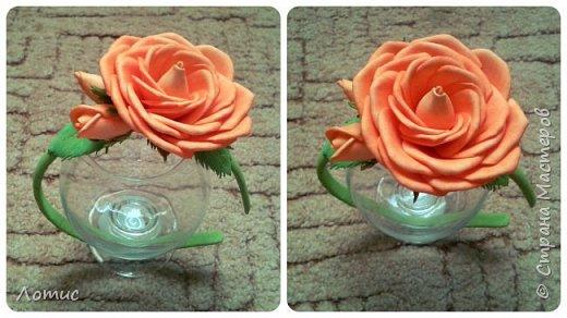 Ободочек с оранжевой розой. фото 1