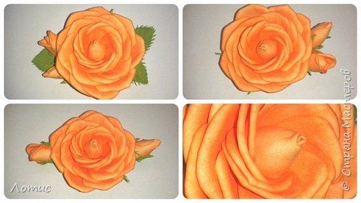 Ободочек с оранжевой розой. фото 2