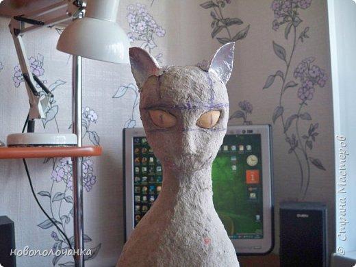 Дочь попросила сделать  кошку на окно. Как  и  из чего эта кошка сделана,  показано в моём   МК. фото 31