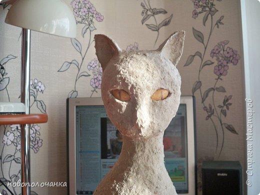 Дочь попросила сделать  кошку на окно. Как  и  из чего эта кошка сделана,  показано в моём   МК. фото 32