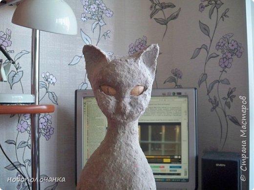 Дочь попросила сделать  кошку на окно. Как  и  из чего эта кошка сделана,  показано в моём   МК. фото 34