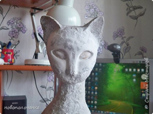 Дочь попросила сделать  кошку на окно. Как  и  из чего эта кошка сделана,  показано в моём   МК. фото 35