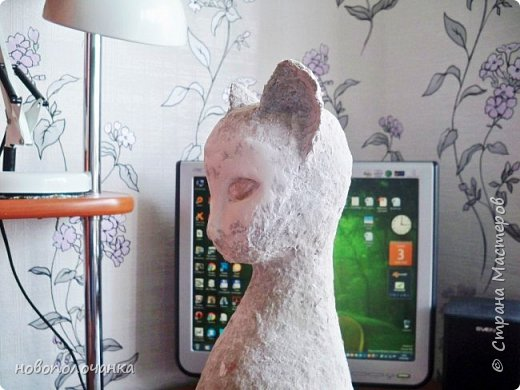 Дочь попросила сделать  кошку на окно. Как  и  из чего эта кошка сделана,  показано в моём   МК. фото 36