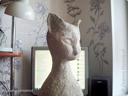 Дочь попросила сделать  кошку на окно. Как  и  из чего эта кошка сделана,  показано в моём   МК. фото 37