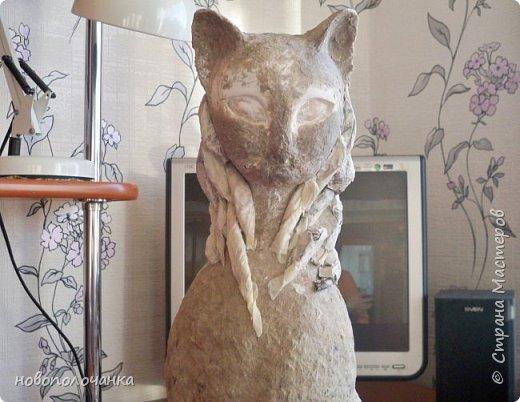 Дочь попросила сделать  кошку на окно. Как  и  из чего эта кошка сделана,  показано в моём   МК. фото 39