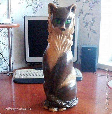 Дочь попросила сделать  кошку на окно. Как  и  из чего эта кошка сделана,  показано в моём   МК. фото 52