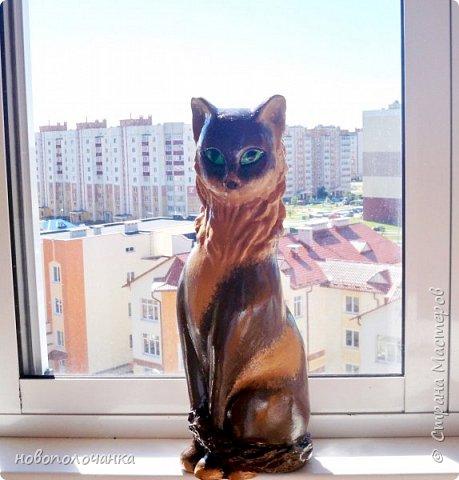 Дочь попросила сделать  кошку на окно. Как  и  из чего эта кошка сделана,  показано в моём   МК. фото 54