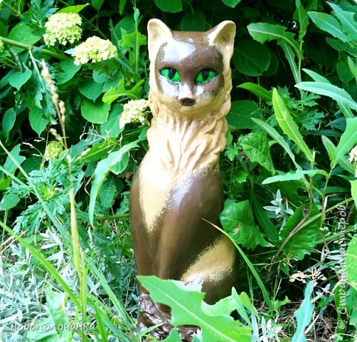 Дочь попросила сделать  кошку на окно. Как  и  из чего эта кошка сделана,  показано в моём   МК. фото 59