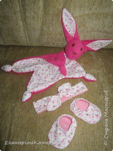 Розовый набор для малышки) фото 2