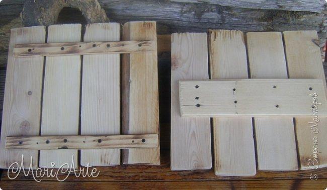 Здравствуйте, всем, заглянувшим ко мне в гости !!  Увидела я как то в интернете, что можно расписывать обычные деревянные дощечки, небрежно сколоченные..... фото 11