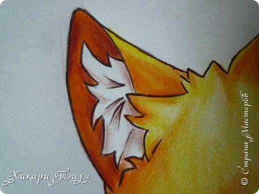 Всем привет! Сегодня мы с вами нарисуем вот такого лисёнка.  Некоторые меня просили сделать МК как я рисую ЭАХ, но, к сожалению, это не так легко. Поэтому я начну свои мастер-классы с более лёгких рисунков. Для работы нам понадобятся: простой карандаш; ластик; если нужно, то чинка; цветтные карандаши; черная, коричневая и оранжевая ручки (если нет, то можно обойтись одной черной или черным фломастером), а еще корректор или белая ручка. И очень прошу - читайте то, что я пишу!!! Не просто смотрите и рисуйте, а еще и читайте, не ленитесь. фото 37