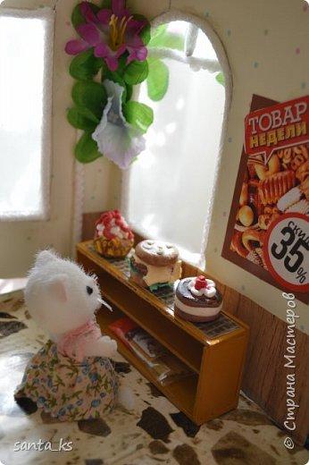 Здравствуйте мастера и мастерицы! После стройки века кукольного домика, о котором я писала здесь.http://stranamasterov.ru/node/1029195... захотелось малых и компактных форм. И решили мы с дочкой ,что нам просто необходимо для семейки персидских котиков из Сильвании сделать супермаркет. Тем более под рукой оказалась коробочка из под кукольной мебели , которую подарила бабуля на день рождение для кукольного домика. фото 9