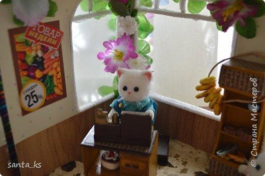 Здравствуйте мастера и мастерицы! После стройки века кукольного домика, о котором я писала здесь.http://stranamasterov.ru/node/1029195... захотелось малых и компактных форм. И решили мы с дочкой ,что нам просто необходимо для семейки персидских котиков из Сильвании сделать супермаркет. Тем более под рукой оказалась коробочка из под кукольной мебели , которую подарила бабуля на день рождение для кукольного домика. фото 6
