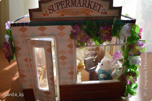 Здравствуйте мастера и мастерицы! После стройки века кукольного домика, о котором я писала здесь.http://stranamasterov.ru/node/1029195... захотелось малых и компактных форм. И решили мы с дочкой ,что нам просто необходимо для семейки персидских котиков из Сильвании сделать супермаркет. Тем более под рукой оказалась коробочка из под кукольной мебели , которую подарила бабуля на день рождение для кукольного домика. фото 12