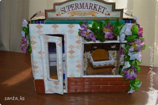 Здравствуйте мастера и мастерицы! После стройки века кукольного домика, о котором я писала здесь.http://stranamasterov.ru/node/1029195... захотелось малых и компактных форм. И решили мы с дочкой ,что нам просто необходимо для семейки персидских котиков из Сильвании сделать супермаркет. Тем более под рукой оказалась коробочка из под кукольной мебели , которую подарила бабуля на день рождение для кукольного домика. фото 14