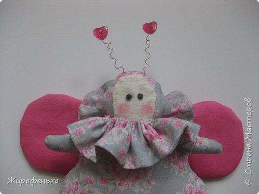Эта очаровательная Жужу с забавными усиками и румяными щёчками полетела на День Рождения к моему любимому парикмахеру Елене. фото 2
