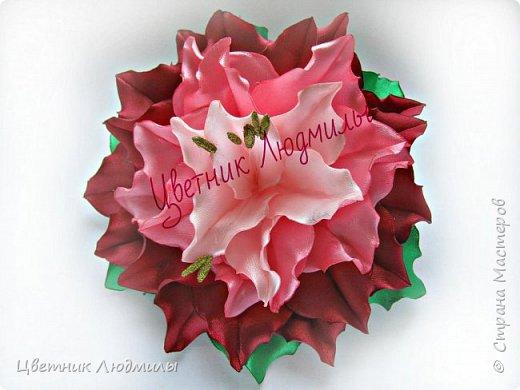 Цветы из лент Лилия канзаши мастер класс своими руками