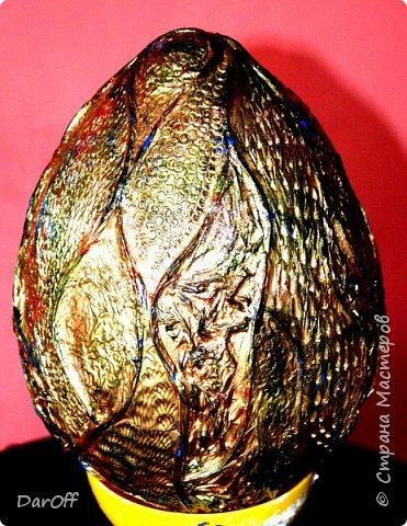 Сварганила я тут на днях такую вот яичницу.... Как оформить еще не придумала, поэтому стоит пока в такой вот импровизированной подставке, может, поможете с советом?  Высота (без подставки) 30 см фото 2