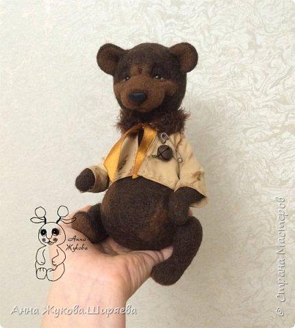 Мишка Шоколад. Технология тедди в валянии. фото 5