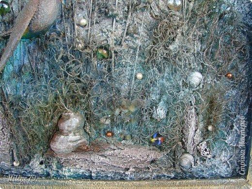 Здравствуйте, дорогие жители нашей замечательной СМ!  Сегодня у меня творчество синего цвета, а зелёное было вот здесь: http://stranamasterov.ru/node/966155  Панно небольшого размера с использованием природных материалов. Красила гуашью. фото 17