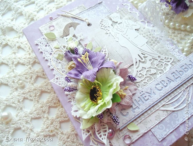 Весна, лето, ранняя осень - традиционная пора свадеб... А я в этот раз приготовила романтичную коробочку для поздравления своих родителей с годовщиной бракосочетания.  фото 4