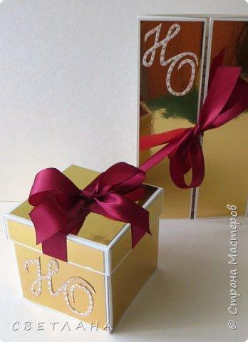 Подарочная коробочка серебряно-зеркальная... фото 5