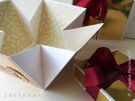 Подарочная коробочка серебряно-зеркальная... фото 6
