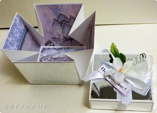 Подарочная коробочка серебряно-зеркальная... фото 2