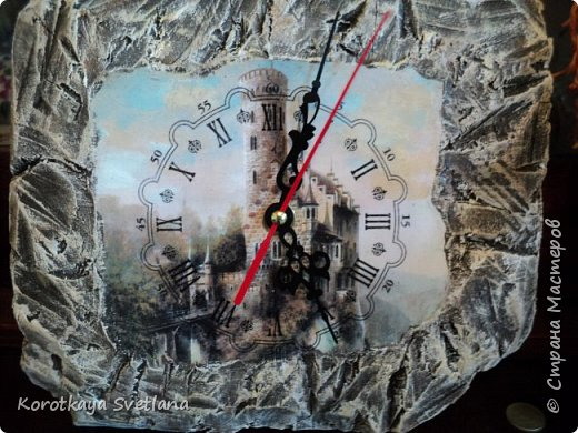 Замок. Камень. Часы. Работа по МК Галины Вакула. фото 2