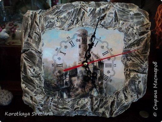 Замок. Камень. Часы. Работа по МК Галины Вакула. фото 1