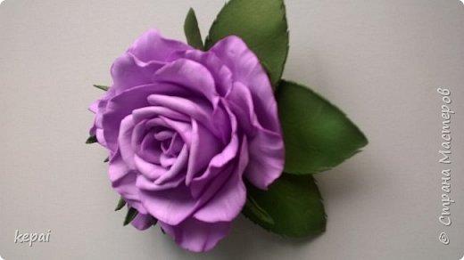 Моя первая заколка и роза из фоамирана. фото 1