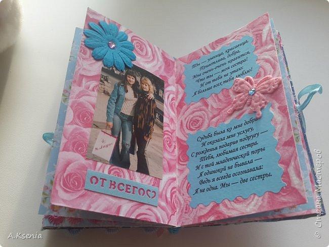 Вот такой карманый фотобук соорудила в подарок своей любимой сестренке! фото 5
