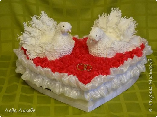 Свадебная казна с голубями фото 4