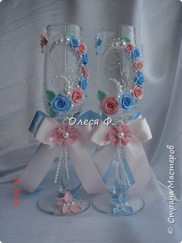 Свадебный комплект для подруги моей дочери. Вот такие нежные  оттенки  выбраны для свадьбы.  фото 5