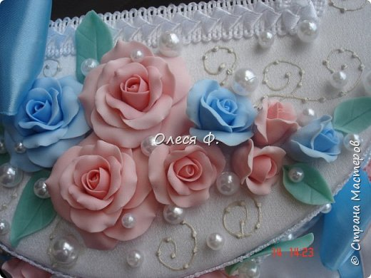 Свадебный комплект для подруги моей дочери. Вот такие нежные  оттенки  выбраны для свадьбы.  фото 11