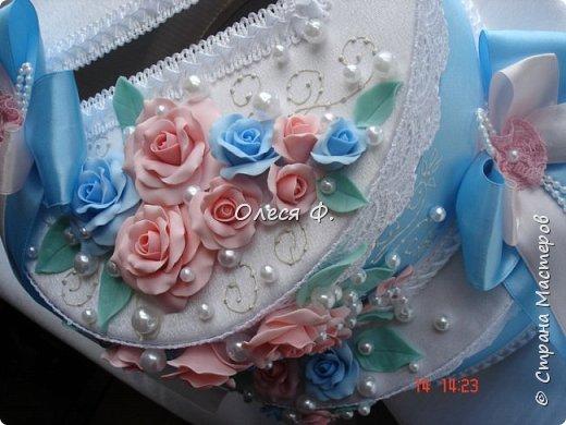 Свадебный комплект для подруги моей дочери. Вот такие нежные  оттенки  выбраны для свадьбы.  фото 12