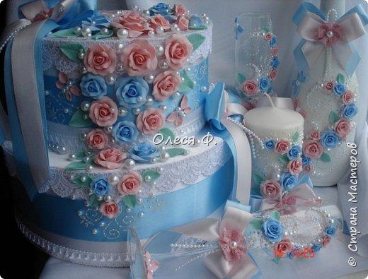 Свадебный комплект для подруги моей дочери. Вот такие нежные  оттенки  выбраны для свадьбы.  фото 1