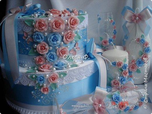 Свадебный комплект для подруги моей дочери. Вот такие нежные  оттенки  выбраны для свадьбы.  фото 13